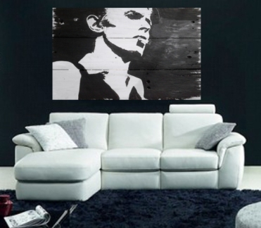 Up-Cycled Pallet Wood Art - David Bowie- Wall Art.